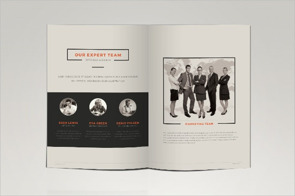 minimal marketing business brochure sample template