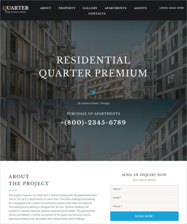 sample real estate website template1