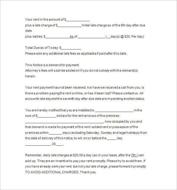 7 days eviction notice template1