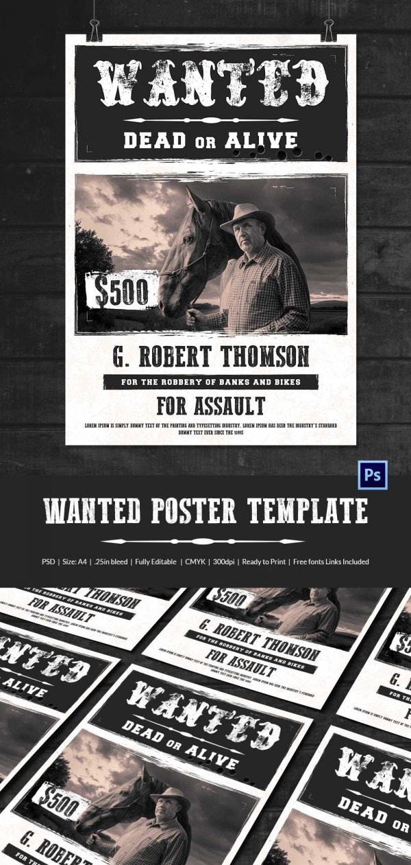 best old western wanted poster