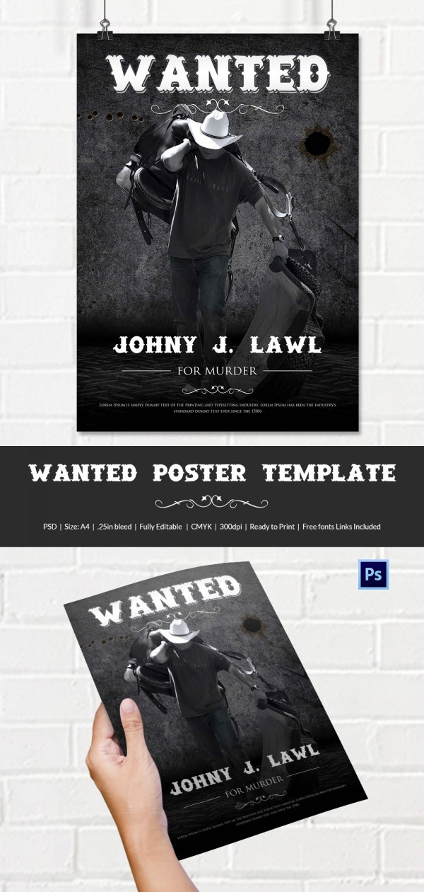 old west wanted poster template
