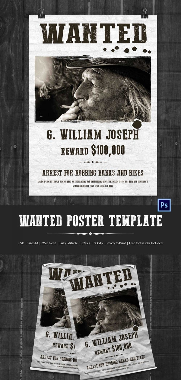 Wanted poster template for powerpoint