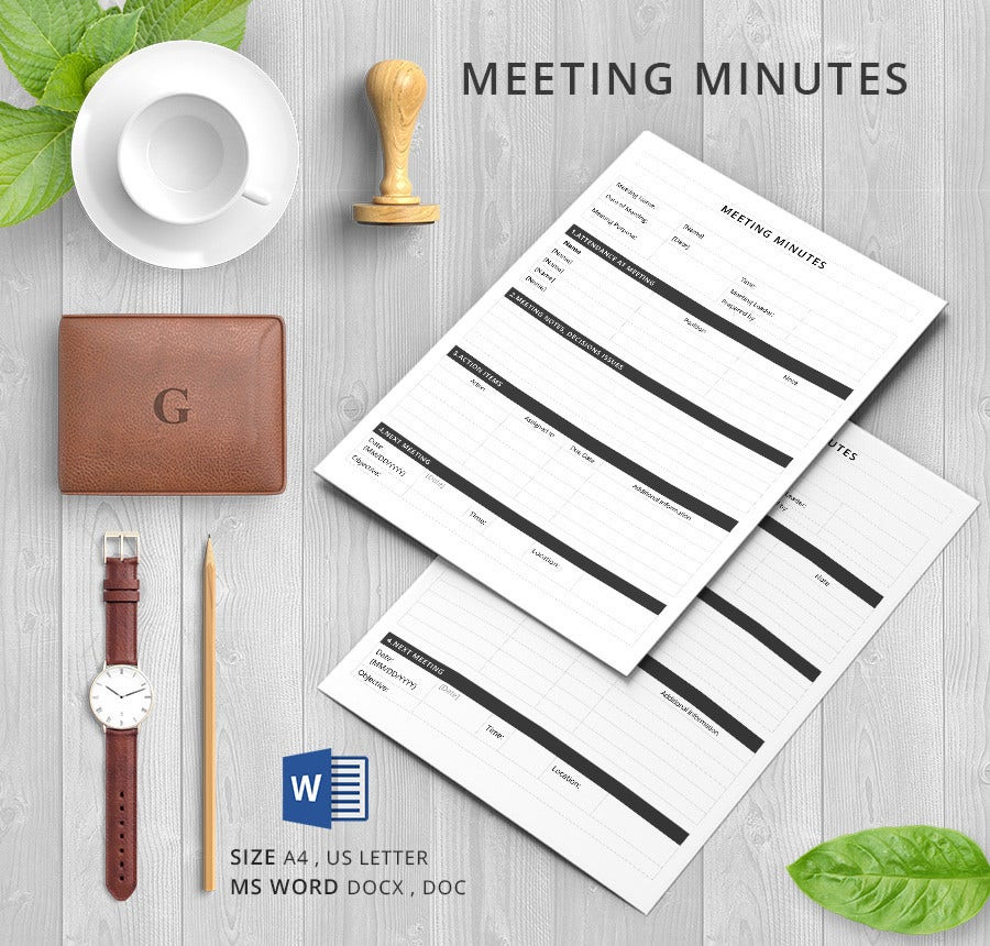 Minutes for an Organization Meeting