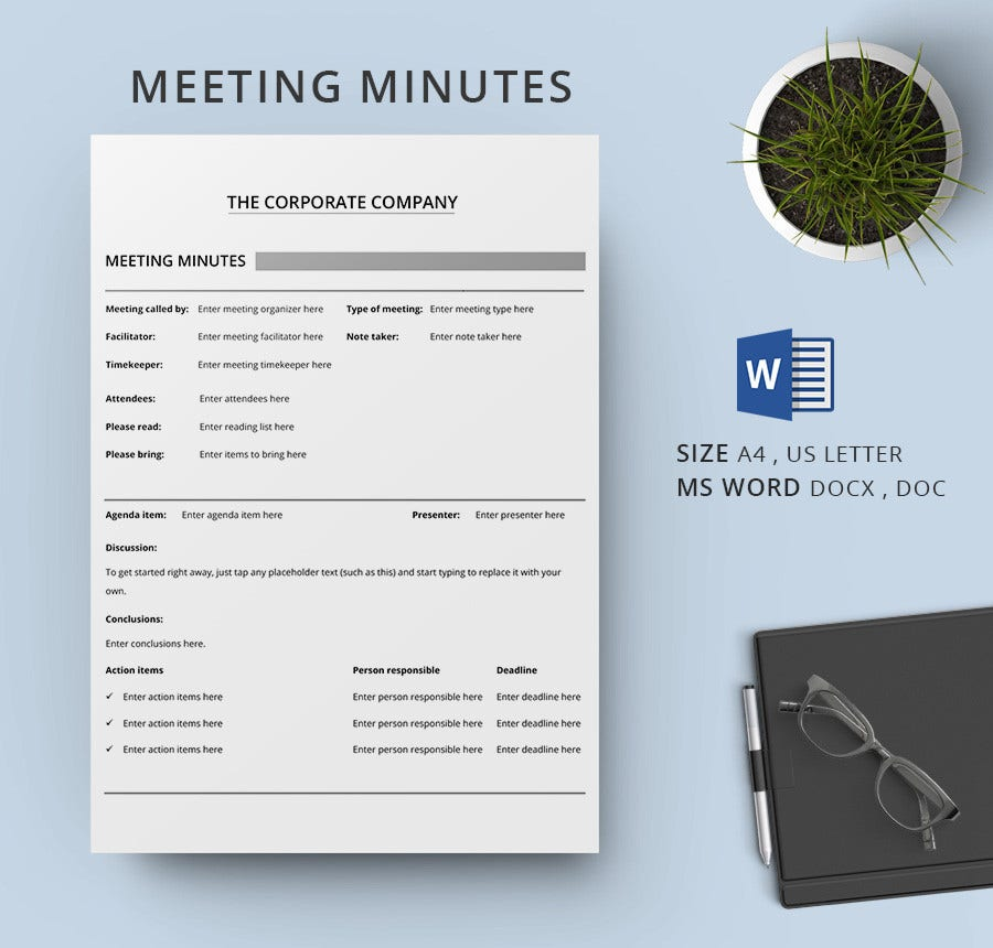 Health Meeting Minutes