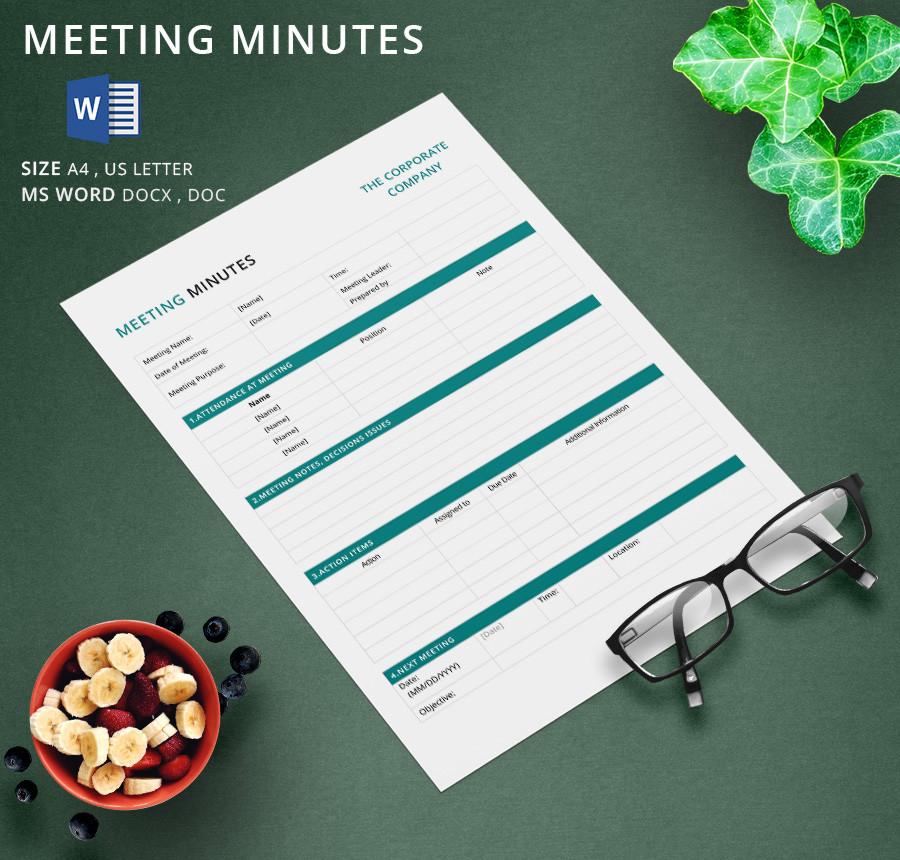 Premium Meeting Minutes Template Download