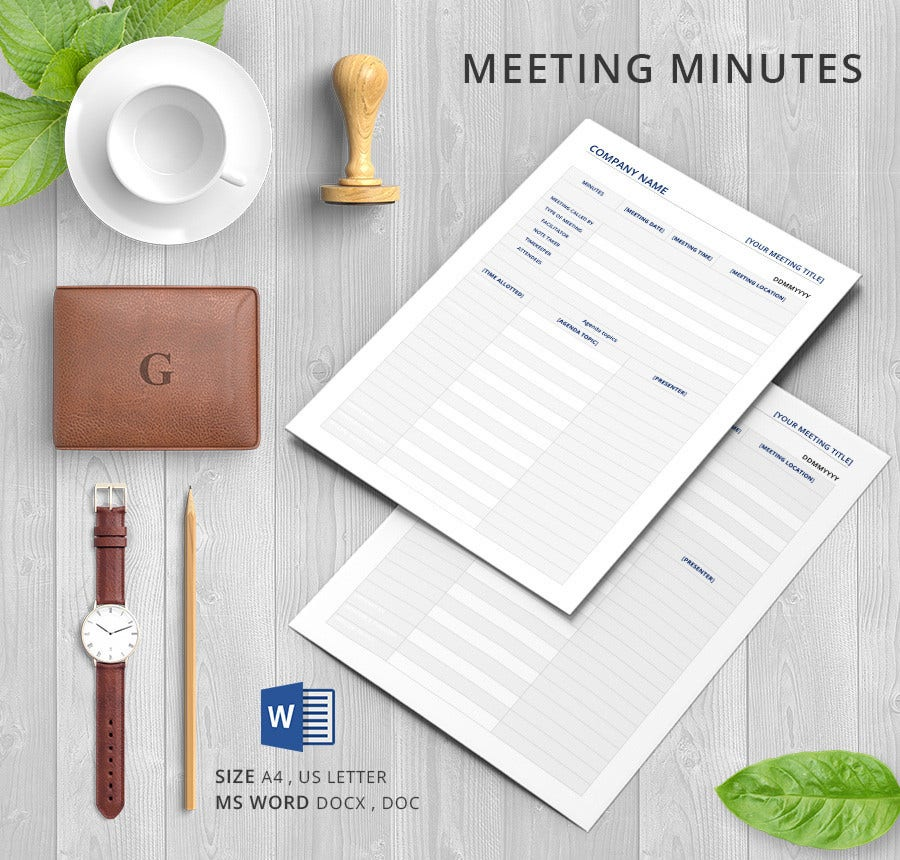 House Meeting Minutes Template