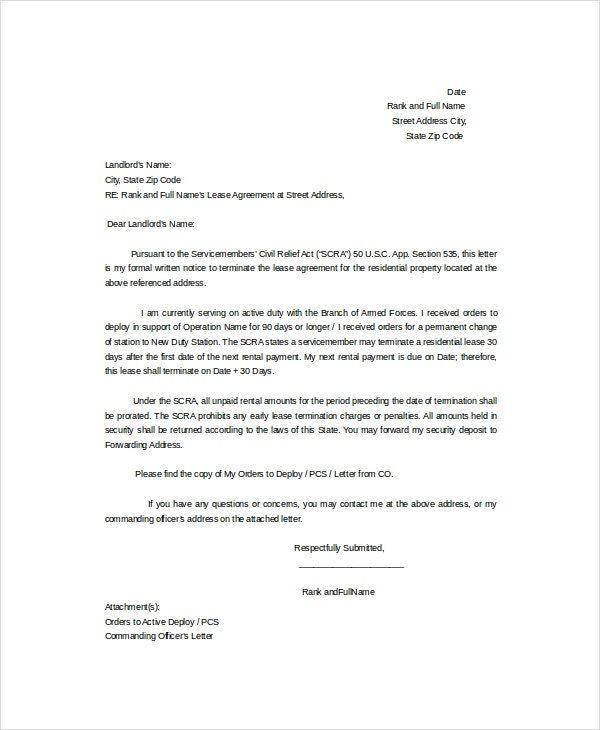 13 termination letter template free sample example