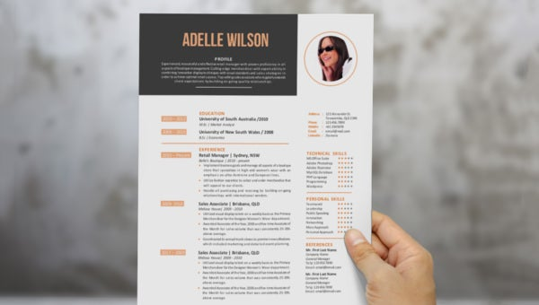 data analyst resume template