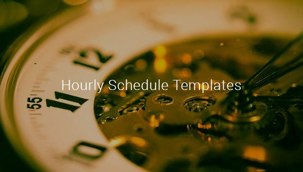 hourly schedule templates