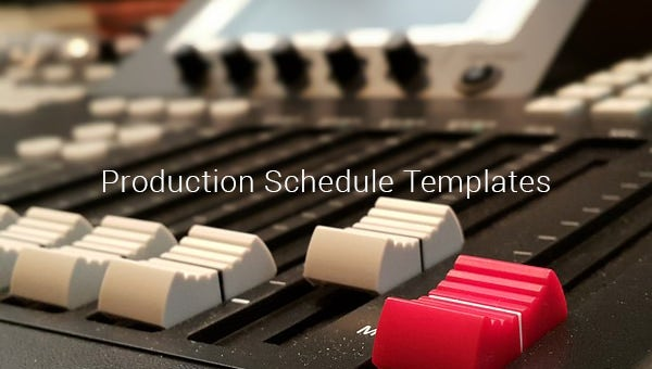 production schedule templates