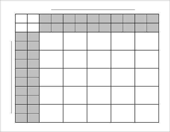 25 Squares Football Pool Template Download