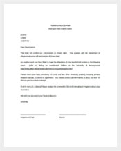 Free Termination Letter Template