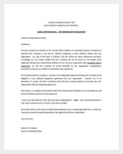 Sample Termination Letter Template