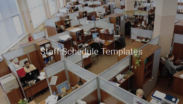 staff schedule templates