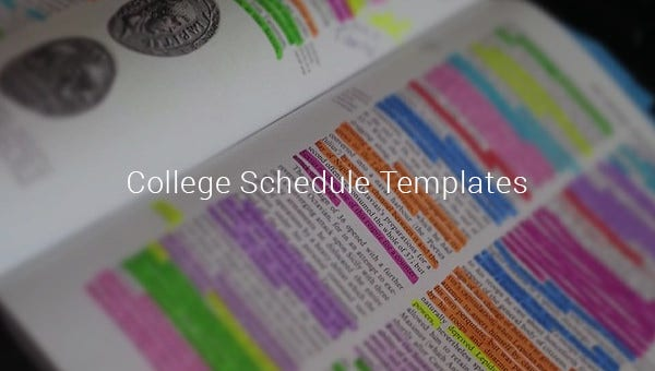 collegescheduletemplates