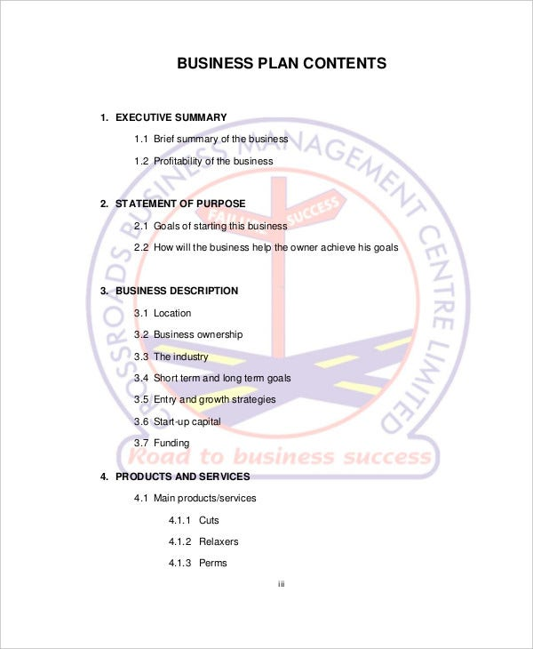 SPA Salon Business Plan Template Free Sample Example - Free hair salon business plan template