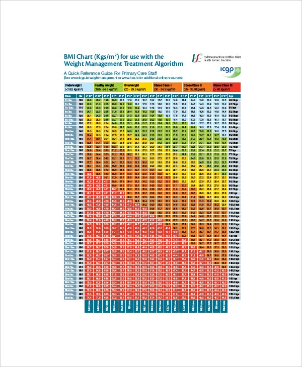 7 Bmi And Body Fat Chart Templates Free Sample Example Format