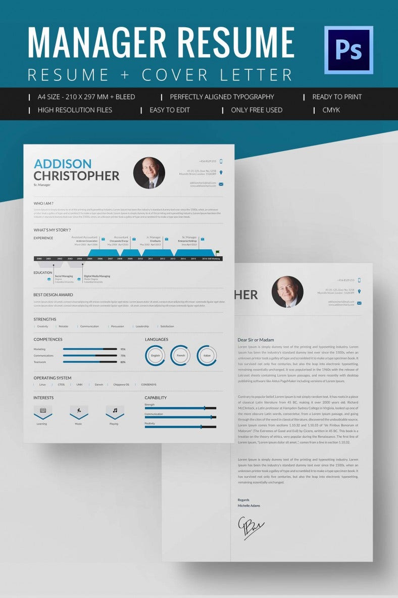 project manager resume template 8 free word excel pdf format download free premium