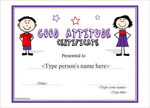 Attendance certificate templates 24 free word pdf documents perfect attendance template certificate sample yelopaper Images