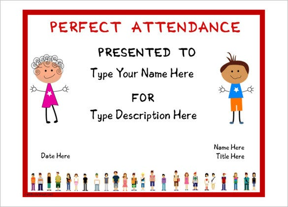 Attendance certificate templates 24 free word pdf documents free certificate for perfect attendence template yelopaper Choice Image