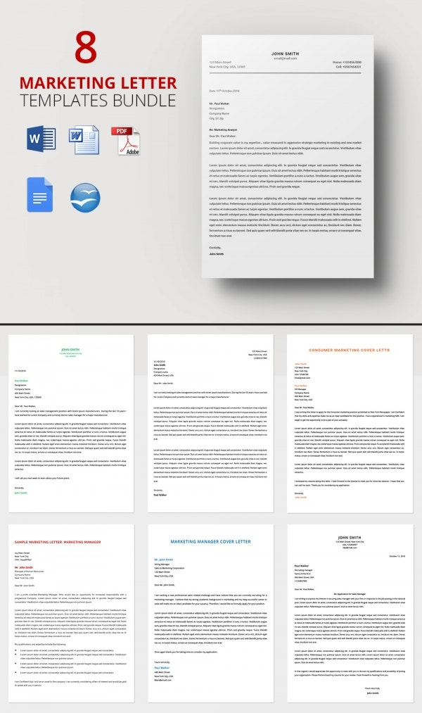 8 Marketing Letter Templates Bundle