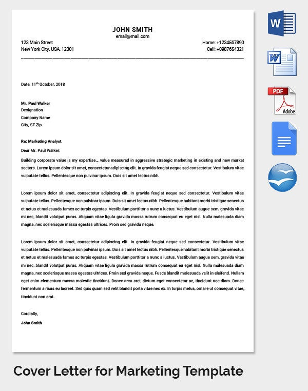 Letter Of Marketing Views And Plans  Marketing Letter Format