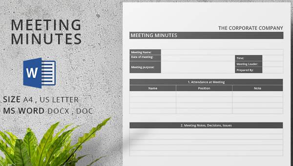 meeting minutes templates11