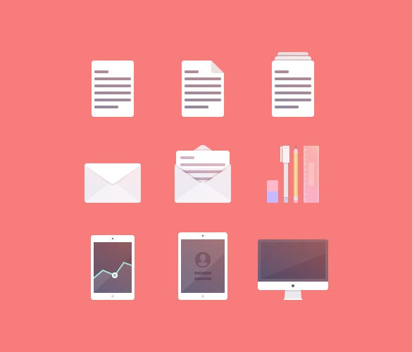 create a set of productivity icons illustrator tutorial