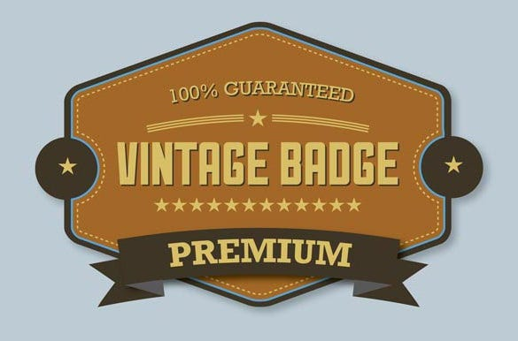 premium vintage badge in illustrator cs6 tutorial