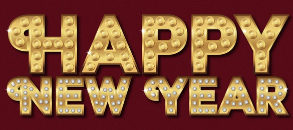 sparkling happy new year text illustratot tutorials