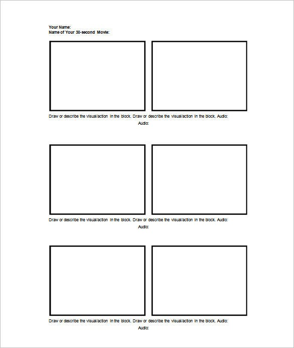 Photography Storyboard Template Storyboard Template Vertical X