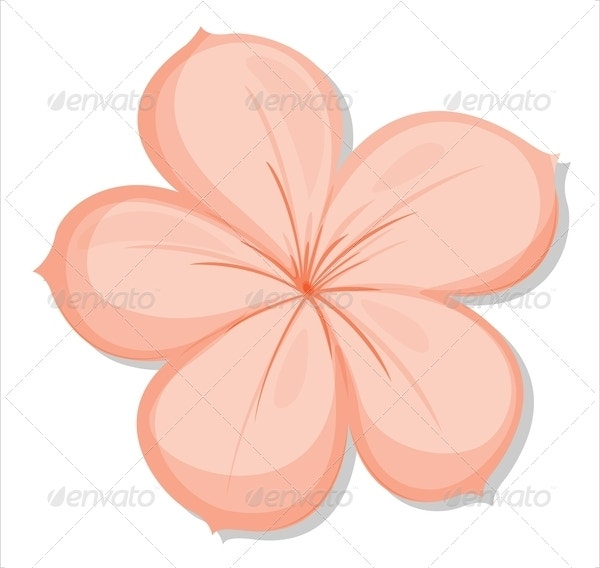 printable 5 petal flower template