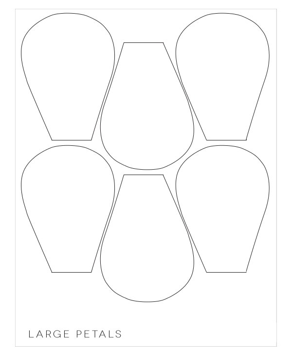 20 flower petal templates pdf vector eps free for Big flower paper template