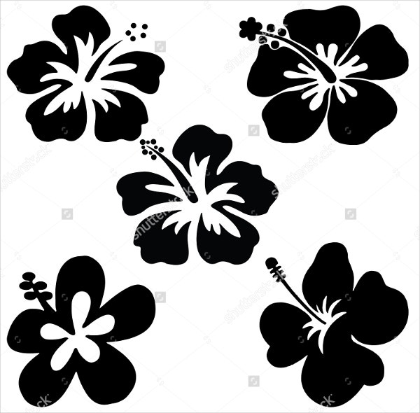 5 petal flower template free download1
