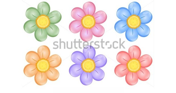 6 petal flower template free download1