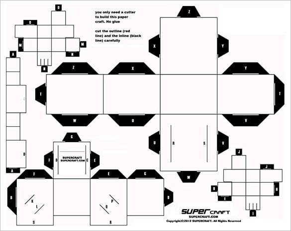 3D-Papercraft-Template-Free