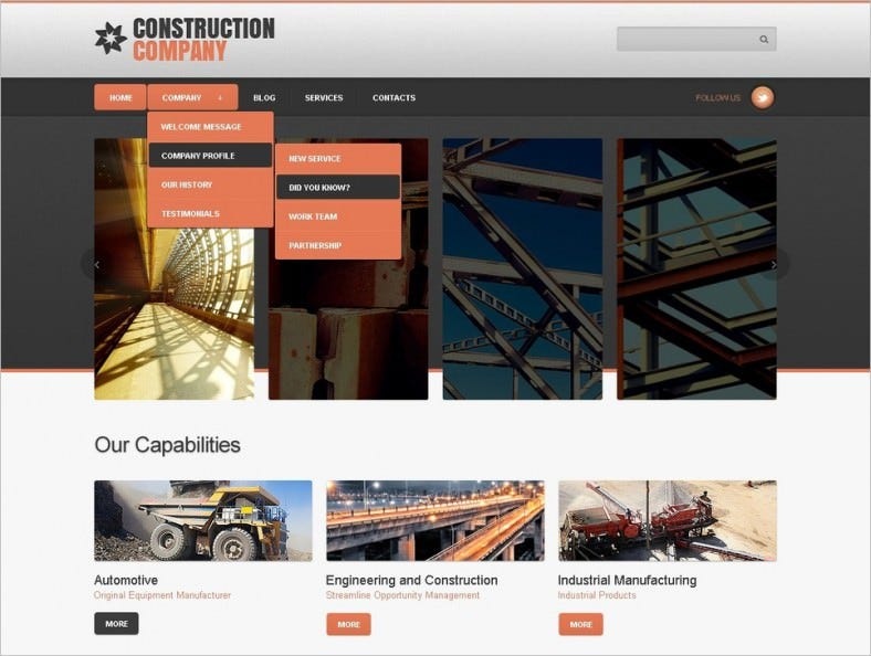 Construction Company Joomla Template