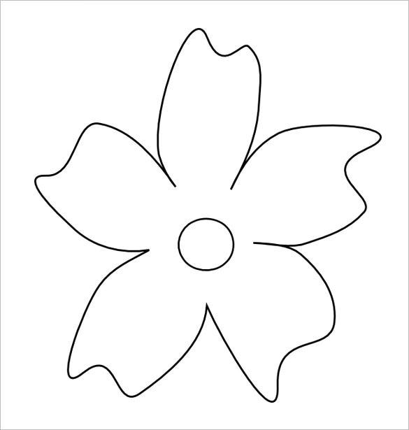 Flower petal template 27 free word pdf documents for Flower template 5 petals