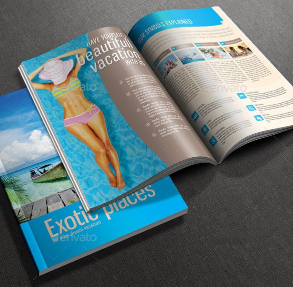a4 size travel brochure psd