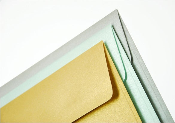 a7 5x7 gold envelopes perfect for wedding