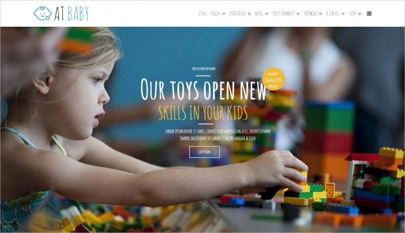 at baby shop joomla template 788x453