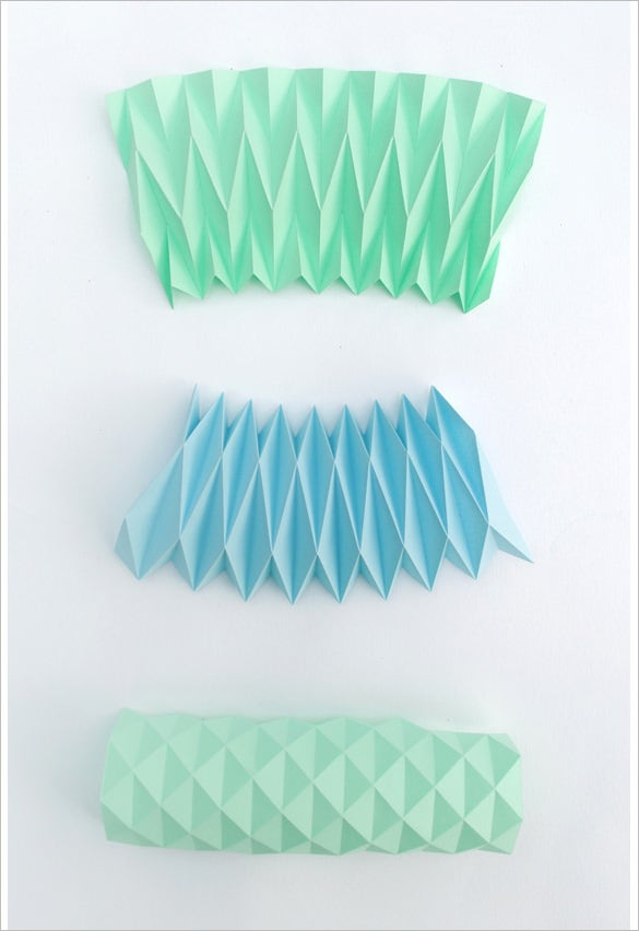 accordion paper folding template