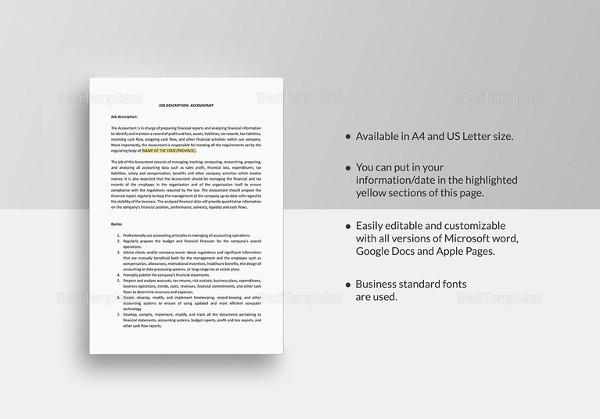 job description templates 32 free word excel pdf free