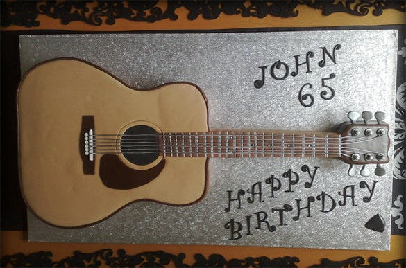 picture regarding Cake Stencils Free Printable known as 14+ Awsome Guitar Cake Templates Styles Cost-free High quality