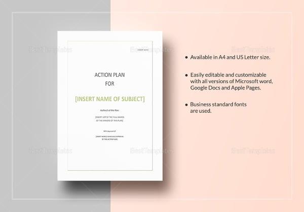 Strategic Action Plan Template 8 Free Sample Example Format – Strategic Action Plan Template