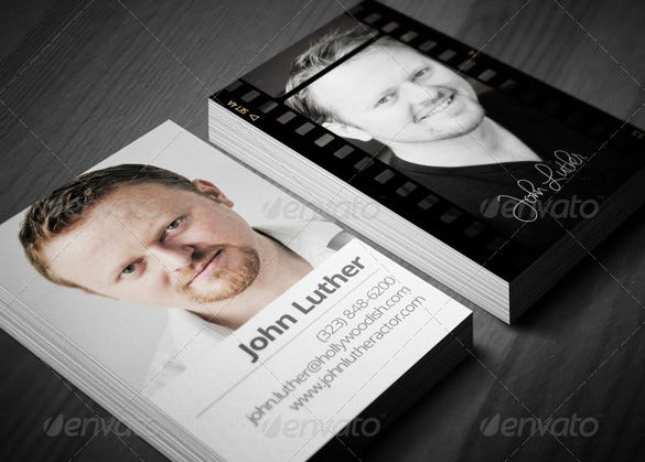 actors photoshop psd calling cards template