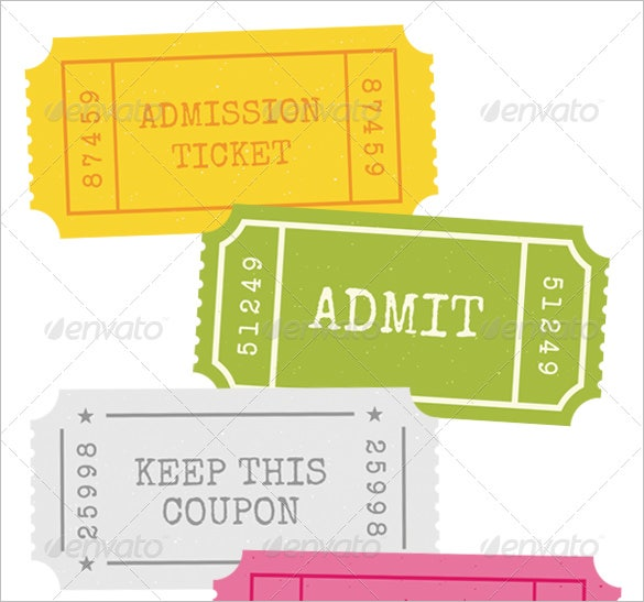 Ticket templates 99 free word excel pdf psd eps for Templates for tickets with stubs