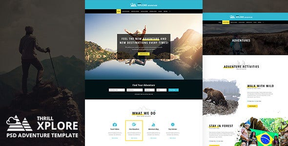 adventure and travel psd template