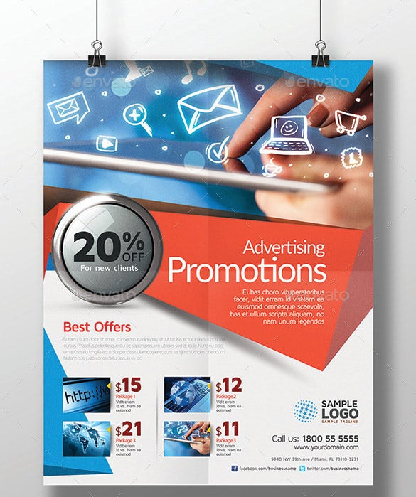 Advertising Flyer Psd For Promotion