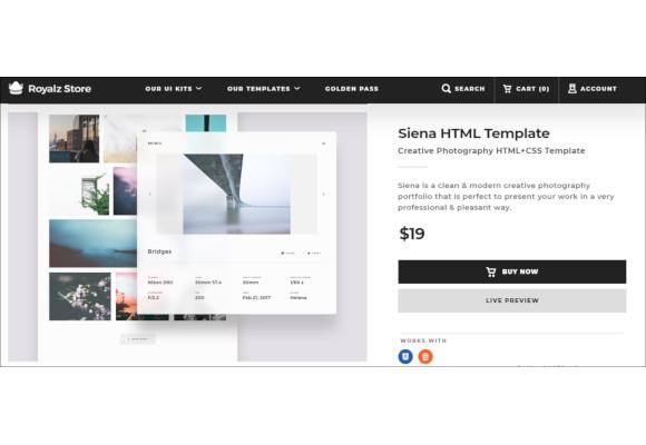 aesthetic portfolio photography website template